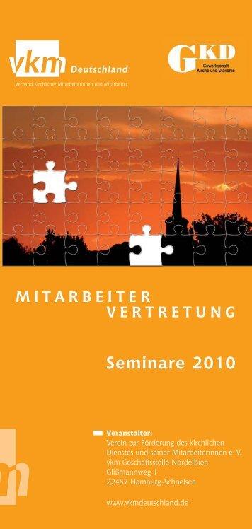Seminare 2010 - GKD - Gewerkschaft Kirche und Diakonie