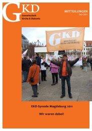 Mitteilungen 4-11.pdf - GKD - Gewerkschaft Kirche und Diakonie