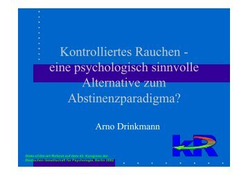 aus Drinkmann, 2002 - Kontrolliertes Rauchen