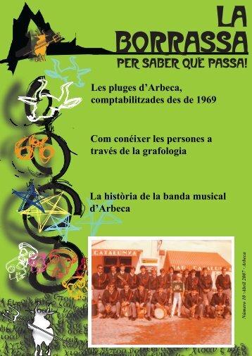 Núm 10 - Abril 2007 - Ajuntament d'Arbeca