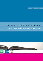 directriusdel ' ifla - Col·legi Oficial de Bibliotecaris-Documentalistes ...