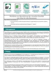 Richtlinie zur Beurteilung der visuellen Qualität von Glas ... - trisophon