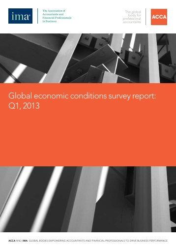 Global economic conditions survey report: Q1, 2013