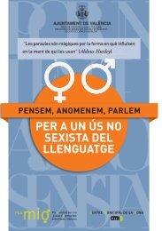 Fullet per a l'ús del llenguatge no sexista - Ajuntament de València