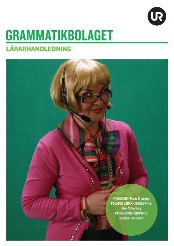 GRAMMATIKBOLAGET - Ur