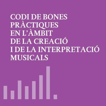 Codi de bones pràctiques - CoNCA Consell Nacional de la Cultura i ...