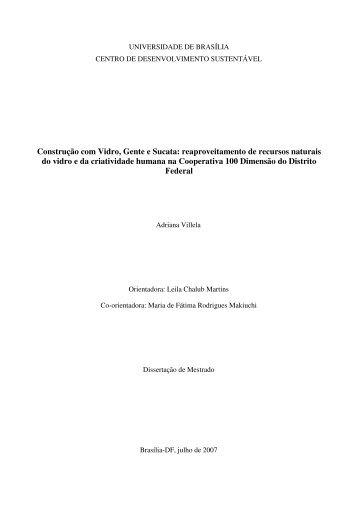 Construção com Vidro, Gente e Sucata: reaproveitamento de ... - ISPN