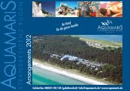 Arrangements 2012 (PDF) - Aquamaris Strandresidenz Rügen