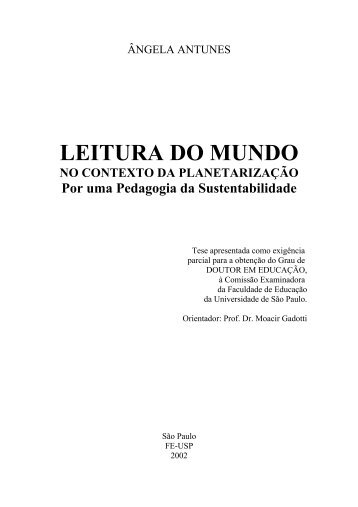 LEITURA DO MUNDO - Instituto Paulo Freire