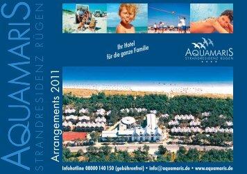 Arrangements 2011 - Aquamaris Strandresidenz Rügen