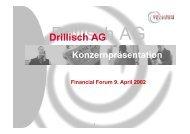 DVFA Technologie Forum 12.11.01 - Drillisch AG