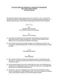 30 Satzung Friedhofs- und Bestattungswesen Geo ... - in Gerolzhofen