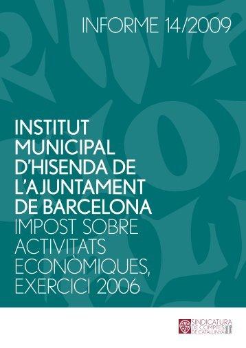 Informe 14/2009 - Generalitat de Catalunya