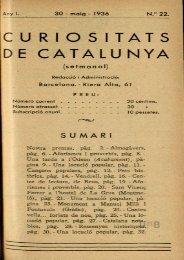 C U R I O S ITATS DE CATALUNYA