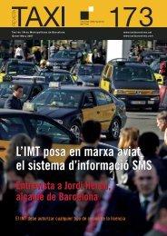 Revista Taxi nº173 PDF - Institut Metropolità del Taxi