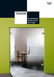 Technikkatalog - Dorma Tensor - GlasKlar GmbH