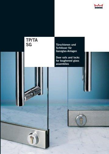 Technikkatalog - Dorma TP/TA  + SG - GlasKlar GmbH