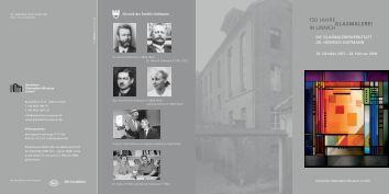 Faltblatt zur Ausstellung