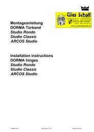 DORMA Rondo-Classic-ARCOS Studio Türband (Montageanleitung)