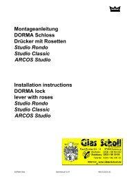 DORMA ARCOS Studio Drücker mit Rosetten Montageanleitung