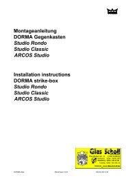 DORMA ARCOS Studio Gegenkasten Montageanleitung