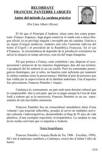 RECORDANT FRANCESC PANTEBRE I ARQUÉS Autor del mètode ...
