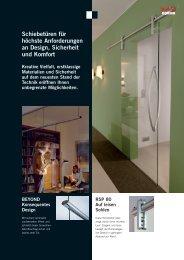 Ganz - Glas - Schiebetüren - GLAS VOIT GmbH