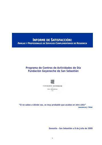 Informe de Satisfacción Familas CADs 2009 - Fundación ...