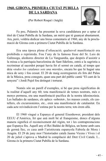 1960. girona, primera ciutat pubilla de la sardana - Palamós ...