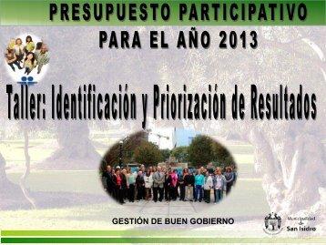 presupuesto participativo 2012 - Municipalidad de San Isidro