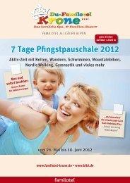 7 Tage Pfingstpauschale 2012 vom 26. Mai bis ... - Du-Familotel Krone