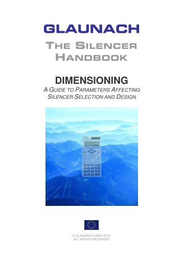 1. acoustic dimensioning - GLAUNACH Vent Silencers