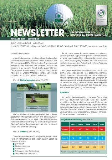 Newsletter 3_11_Newsletter - Golf- und Landclub Haghof
