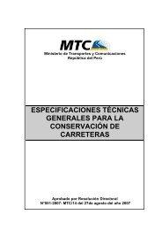 Especificaciones Técnicas Generales para la Conservación