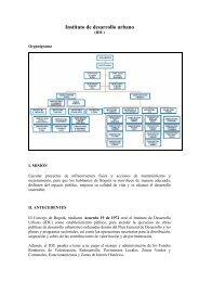 Instituto de desarrollo urbano –IDU - Instituto de Estudios Urbanos
