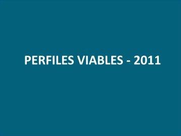 PERFILES VIABLES - 2011 - Gobierno Regional de Ica