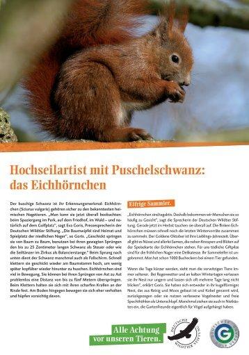 Tier des Monats - Golfpark Schloss Wilkendorf