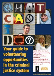 Your guide to volunteering opportunities in the criminal justice system