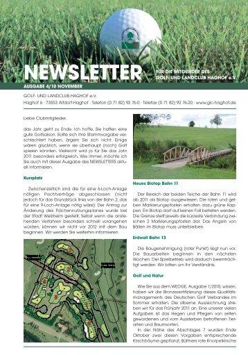 Newsletter 4_10_Newsletter - Golf- und Landclub Haghof