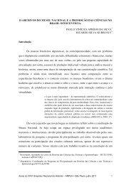 o archivos do museu nacional ea promoção das ciências no brasil ...