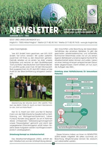 Newsletter 2_11_Newsletter - Golf- und Landclub Haghof