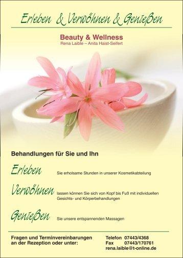 Wellness in unserem Hause. - Birkenhof Mitteltal