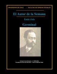 El Autor de la Semana Germinal - Universidad de Chile