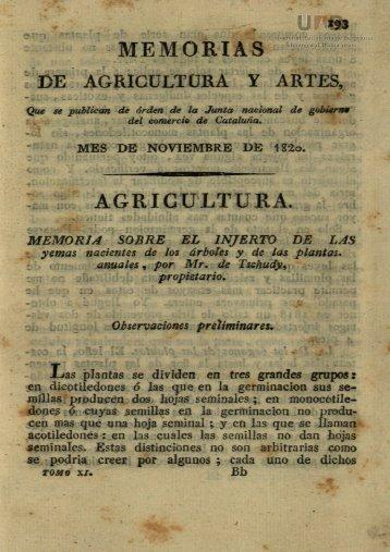 MEMORIAS AGRICULTURA.