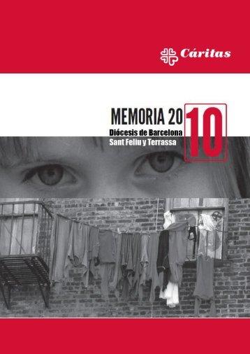 Memoria 2010 de Cáritas