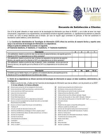 Encuesta de Satisfacción a Clientes - Sistema de Gestión de la ...