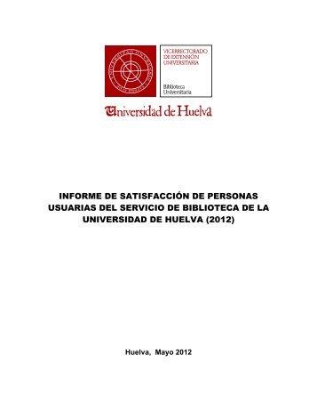 informe de satisfacción de personas usuarias del servicio de ...