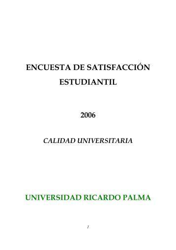 ENCUESTA DE SATISFACCIÓN ESTUDIANTIL - Wiphala.net