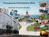 Presupuesto participativo - Municipalidad de San Miguel
