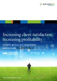 Increasing client satisfaction, increasing profitability